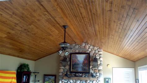 Wood Plank Cathedral Ceiling