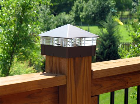 low voltage or solar deck lights are not only energy