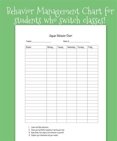 behavior chart template for teachers tween teaching classroom behavior system for grades
