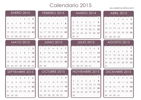 imagenes calendario octubre 2015 para imprimir calendario 2015 para imprimir almanaque 2015