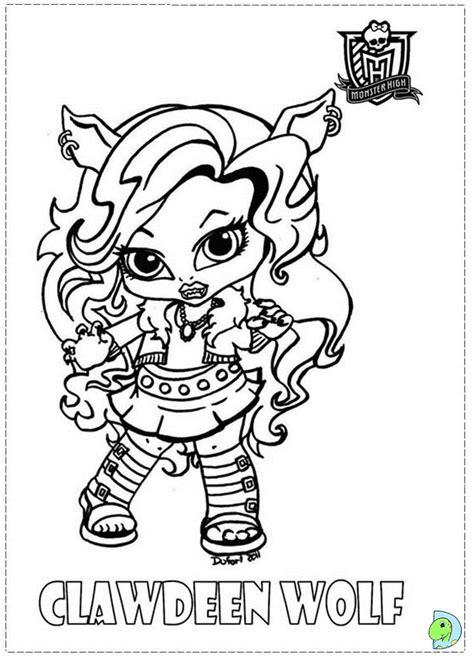 free coloring pages of monster high dolls