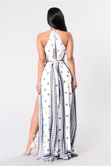Raveena Rope Dress X S M L dope in rope dress ivory navy