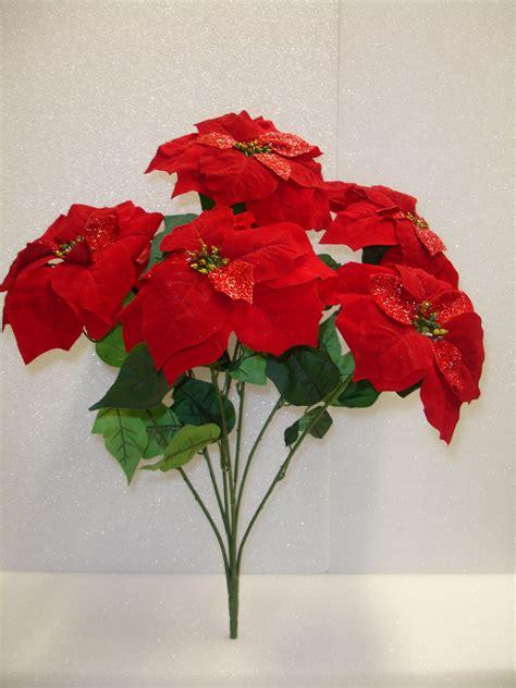 artificial poinsettias wholesale silk poinsettias mums roses ruscus