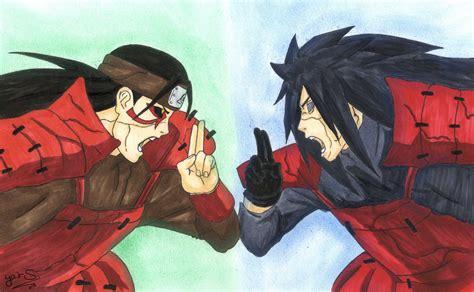 Kaos Anime Madara Vs Hashirama drawing madara uchiha vs hashirama senju
