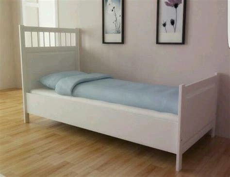 ikea hemnes white single bed frame in motherwell