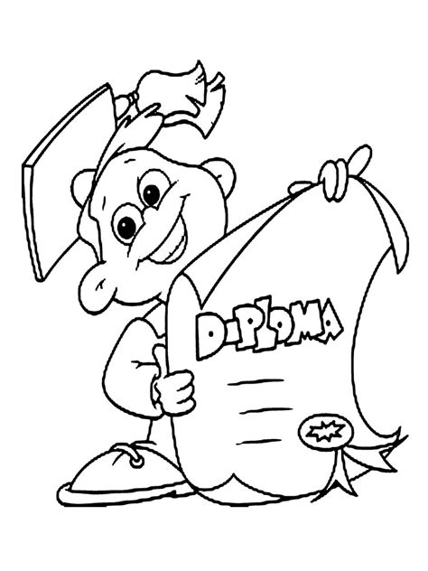Graduation Coloring Pages To Print