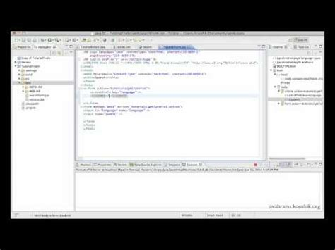 struts tutorial in netbeans struts 2 tutorial 09 post requests to actions java brains