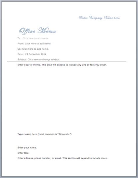 Memo Format Microsoft Word Office Memo Template Microsoft Word Templates