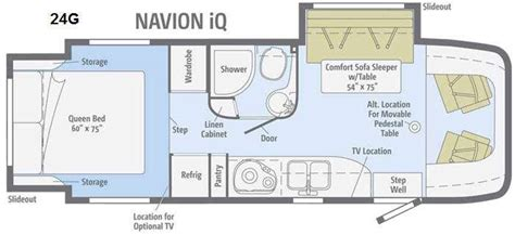 navion rv floor plans new 2015 itasca navion iq 24g motor home class c diesel