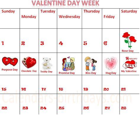 Calendar 2018 Valentines Day Calendar Of Day Aztec
