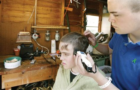 student haircuts chicago central students get haircuts to honor fallen classmate