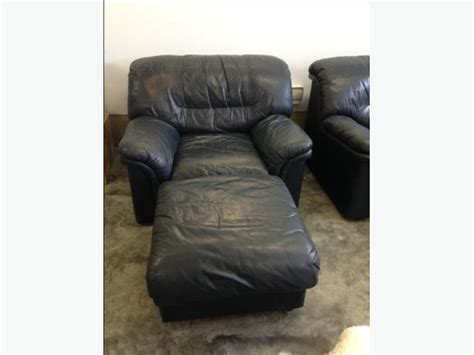Navy Blue Leather Chair And Ottoman Matching Navy Blue Leather Sofa Chair And Ottoman For Sale Courtenay Courtenay Comox