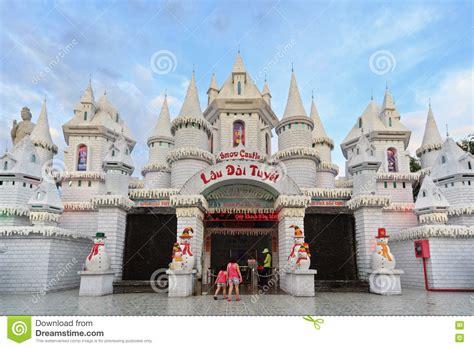 theme park vietnam snow castle in amusement park suoi tien in south vietnam
