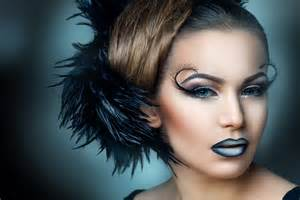 wallpaper model make up feathers hair hairstyle