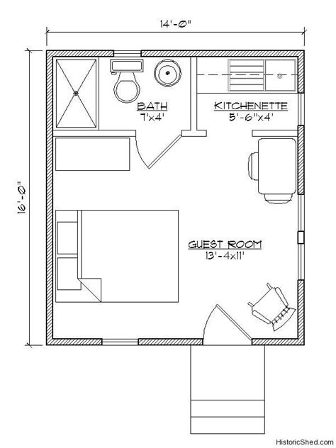 12 20 tiny houses pdf floor plans 452 sq excellentfloorplans in 12x12 house plans best 25 tiny guest house ideas on