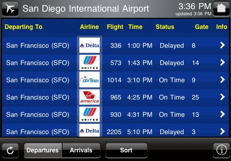 check flight status and more with 'flight board' app for