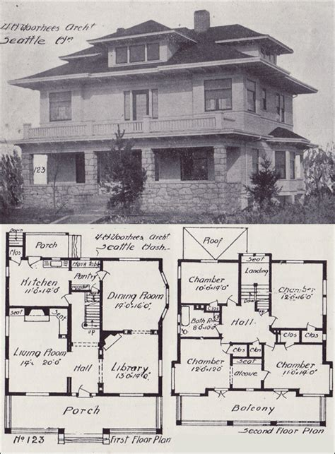 Permalink to American Foursquare Floor Plans