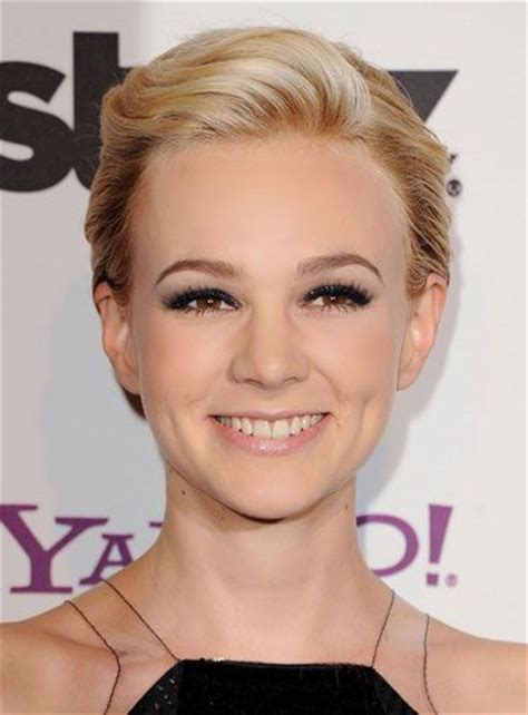 formal comb back pixie cut carey mulligan hairstyle hairstyles 50 best side swept bangs herinterest com