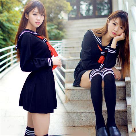japanese school girls in their uniforms credits to flickr 2 pcs set jk japanese school sailor uniform fashion school