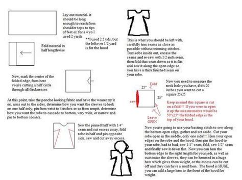 free pattern jedi cloak how to jedi robe for kids easily adapted for adults too