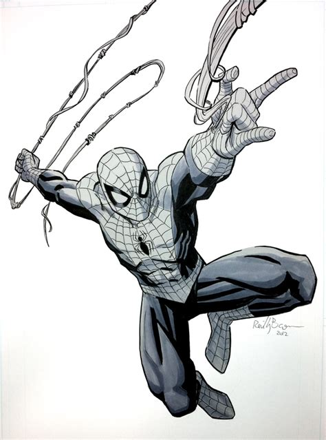 how to draw spiderman swinging web swinging by reillybrown on deviantart