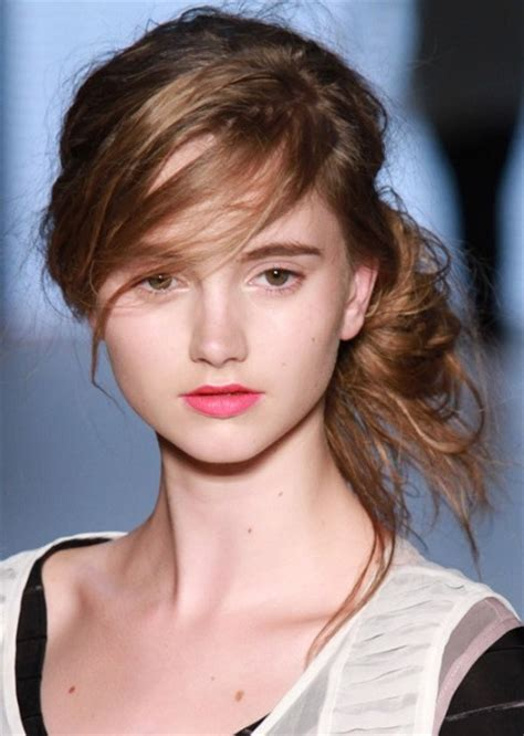 hairstyles with messy bangs classy simple feminine updo for women the bun hairstyles