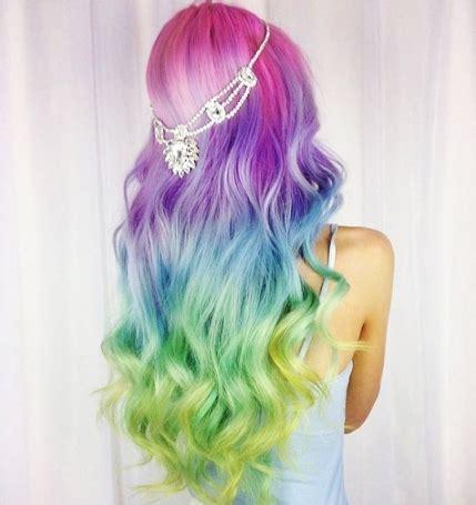 10 fashionable rainbow hair color ideas