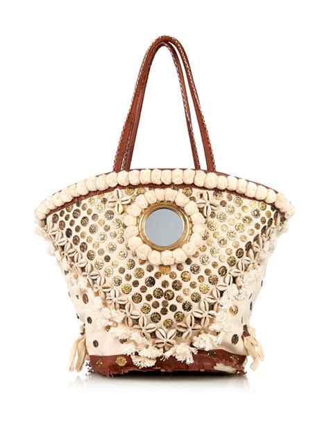 Embroidered Bag lyst figue tuk tuk embroidered tote bag in