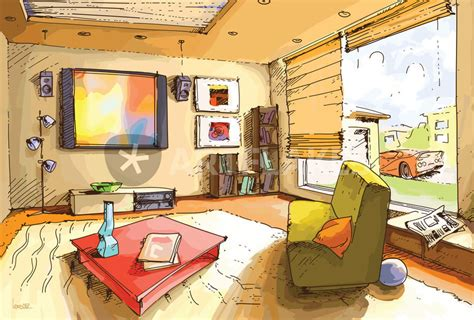 Description Of Living Room by Quot Light Living Room Quot Drawing Prints And Posters By