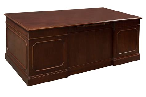 used desk traditional veneer used 36 215 72 pedestal desk cherry
