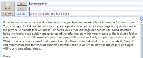 business letter email etiquette etiquette for email bruce mayhew and
