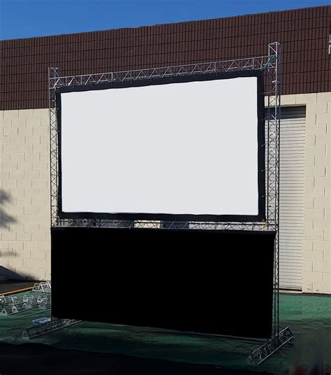 backyard big screen 10 foot indoor or outdoor projection screen for hire
