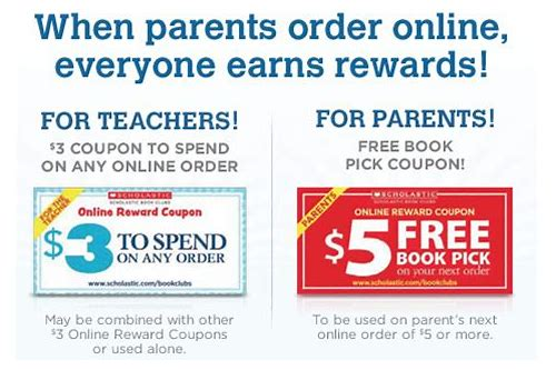 scholastic book club coupon code may 2018