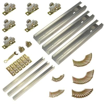 sliding cabinet door hardware home depot johnson hardware 100md series 94 in track and hardware
