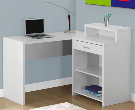 Corner Desk Storage White Corner Storage Computer Desk 7124 Monarch