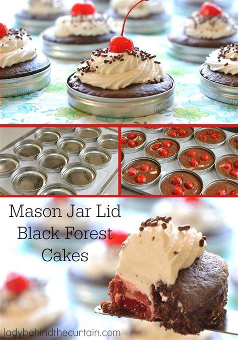 Jar Blackforest jar lid black forest cakes