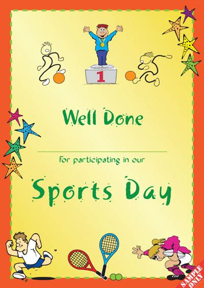 templates for sports day certificates sports certificate s96 pixygraphics