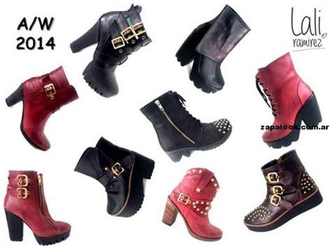 imagenes zapatos invierno 2014 botas negras y bordo de lali ramirez para el invierno 2014
