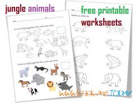 free printable jungle animals worksheets activities jungle animals