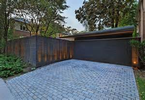garage driveway design awesome shadow box fence cost decorating ideas images in