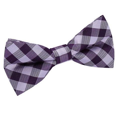 Bowtie Regular Purple dqt woven gingham check checkered purple classic mens pre