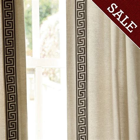 greek key curtains drapes greek key bordered panel curtain panel inspirations