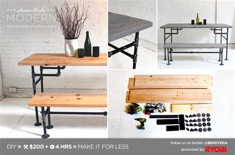 modern ep3 wood iron table