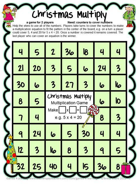 free printable math card games freebie christmas math freebie by games 4 learning