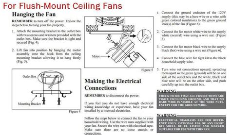 Hton Bay Ceiling Fan Flush Mount Installation