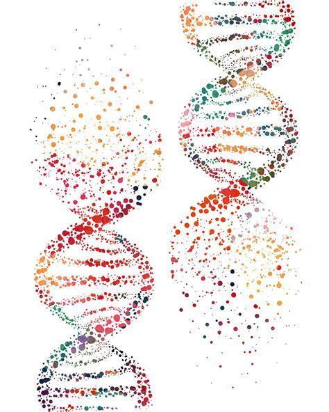 Art Design Genetic Screens | dna molecule art print biology art watercolor print and