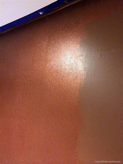 copper color paint a shimmery metallic copper wall with modern masters