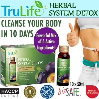 Herbs To Detox Digestive System by Qoo10 Trulife Herbal System Detox 10x50ml 6 Active