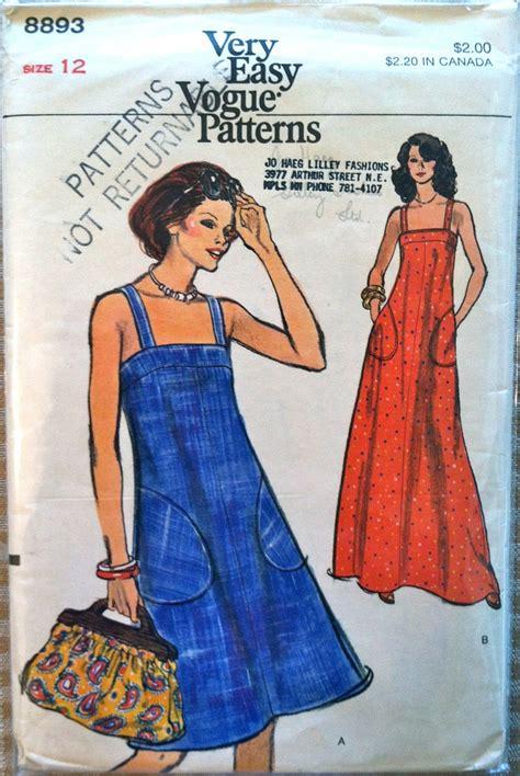 no pattern clothes 1970 s vogue misses maxi dress pattern bust 34 quot no