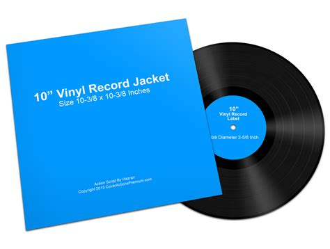 10 inch vinyl record mock ups cover actions premium